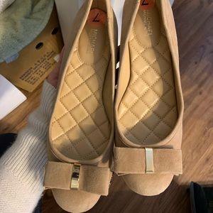 MK nude suede shoes